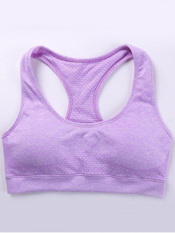 Soutien-gorge de sport à tie dye - Violet Clair M