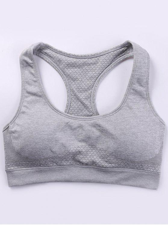 shops Racerback Padded Sporty Bra - GRAY M