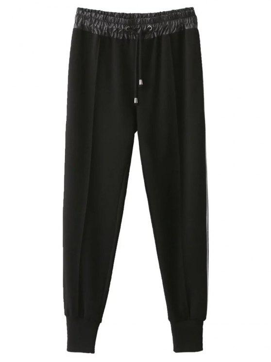 hot Relaxed Drawstring Jogging Pants - BLACK XL