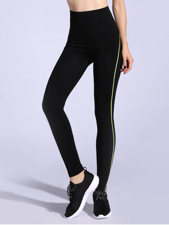 womens High Waisted Leggings - NEON GREEN M