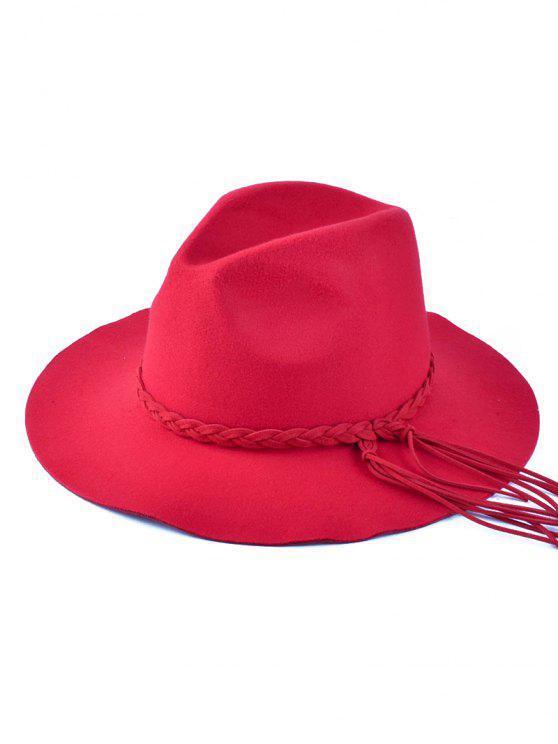 Floppy Tressé Tassel Feutre - Rouge