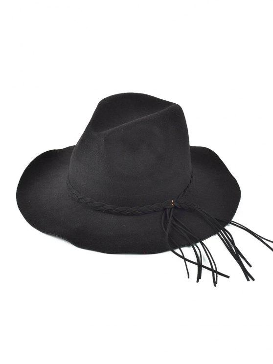 Floppy Braided Tassel Felt Hat BLACK  Hats  50a247107410