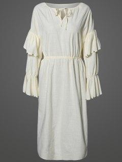 Flutter Sleeve Maxi Dress - Apricot