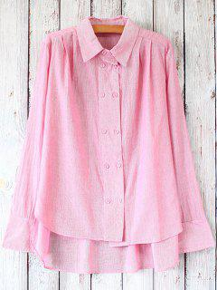 Striped Casual Shirt - Pink