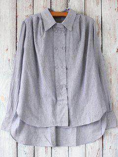 Rayé Casual Shirt - Gris