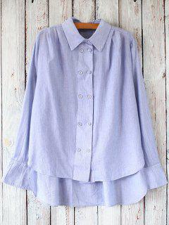 Rayé Casual Shirt - Bleu
