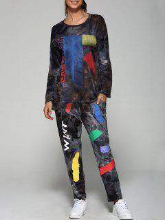 Printed Sweatshirt And Jogging Pants