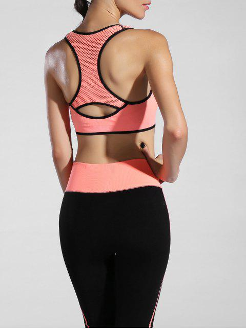 ladies Piped Pullover Sports Bra -   Mobile
