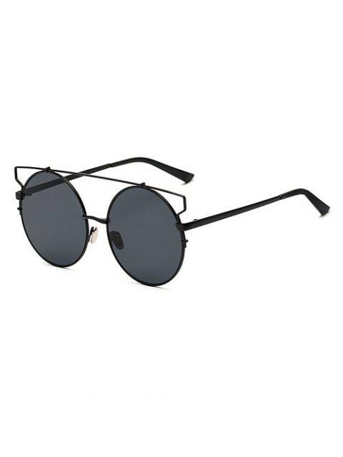 fashion Crossbar Round Sunglasses -   Mobile