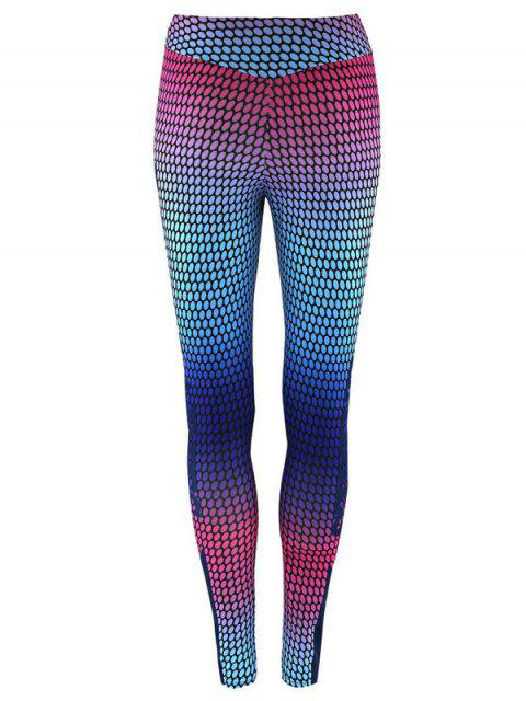 lady High Waist Print Skinny Gym Leggings -   Mobile
