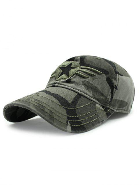 unique Star Badge Embroidery Camouflage Baseball Hat -   Mobile