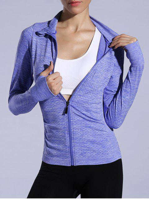 chic Glove Sleeve Breathable Sports Jacket -   Mobile