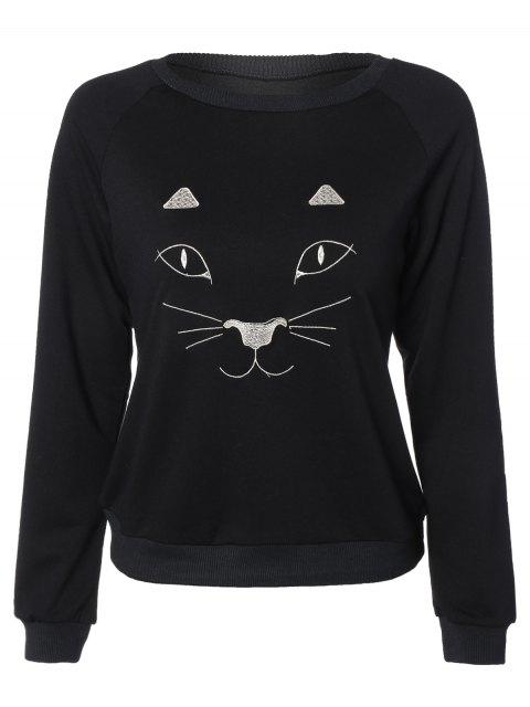Kitten Sweatshirt drôle - Noir L Mobile