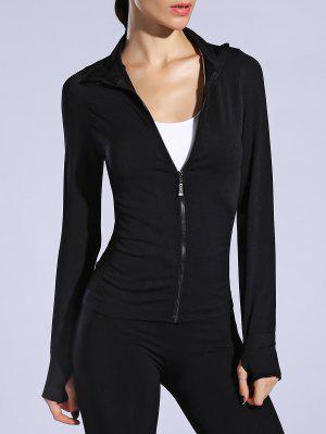 Glove Sleeve Breathable Sports Jacket - Black M