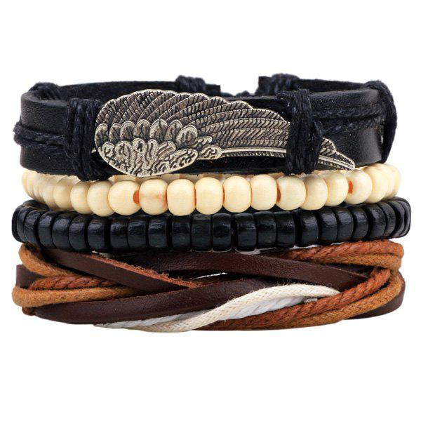 Wing tressées perles Bracelets