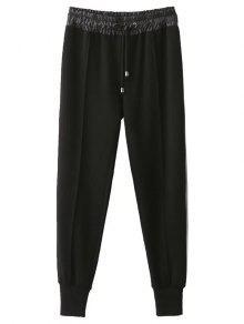 Pantalones De Jogging Con Cordón Relajado - Negro Xl