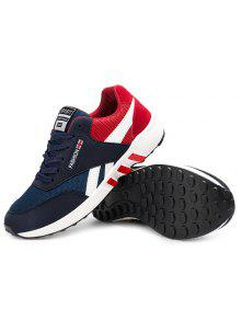 Breathable Lace-Up Color Block Athletic Shoes - Red 43 cheap with mastercard hot sale for sale mMUsETxM