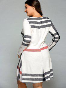 a1956cf3b2c ... Plus Size Long Sleeve Flowy Tee Dress ...