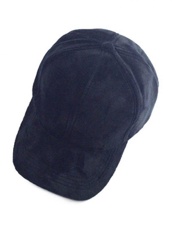 Faux Suede Baseball Cap - Noir