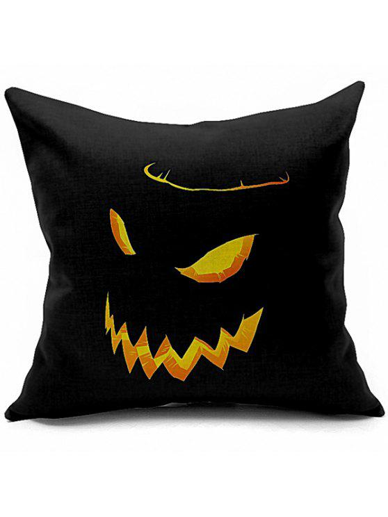 sale Halloween Funny Pumpkin Printed Sofa Cushion Pillow Case - BLACK