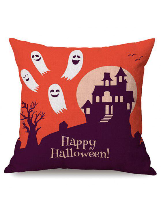 online Durable Happy Halloween Ghost Sofa Cushion Printed Pillow Case - COLORMIX