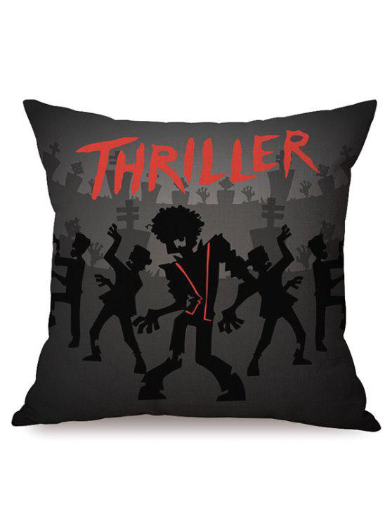 outfits Durable Halloween Thriller Sofa Cushion Printed Pillow Case -  COLORMIX caf5a1124