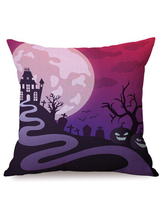 Durable Halloween Night Canapé Coussin Taie Imprimé - Multicolore