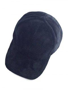 Faux Suede Baseball Cap - Black