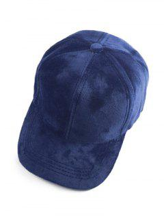 Faux Suede Baseball Cap - Cadetblue