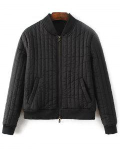Cotton-Padded Jacket - Black S