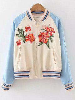 Baseball Raglan Sleeve Jacket - Apricot S