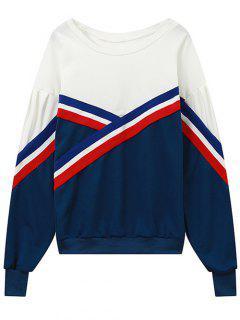Couleur Bloc Sweatshirt - Bleu