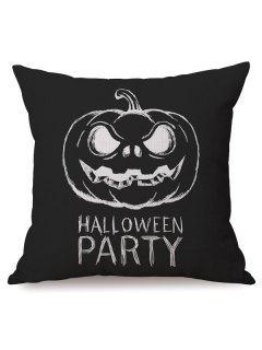 Antibacteria Sofa Cushion Halloween Party Pumpkin Printed Pillow Case - Black