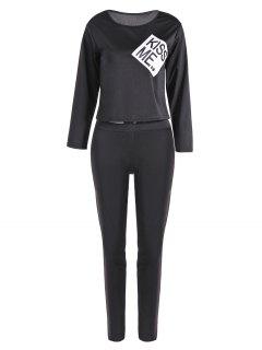 Kiss Me Sports Suit - Black S