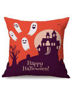 Durable Happy Halloween Ghost Sofa Cushion Printed Pillow Case