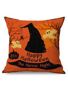 Feliz Halloween Horror Impreso Caso De Almohada Cojín Del Sofá Noche