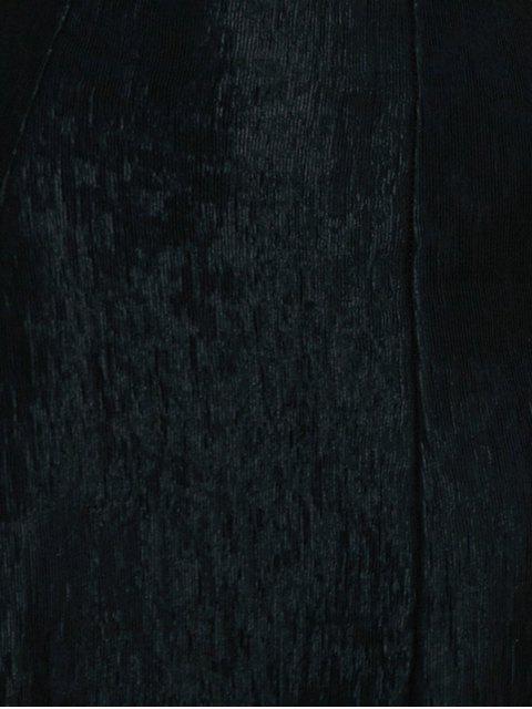 Robe à bretelle spaghetti à lacet haut - Noir L Mobile