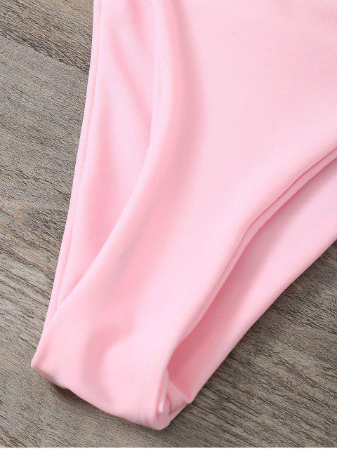 womens Low Waisted Spaghetti Strap Bikini Swimwear - PINK M Mobile