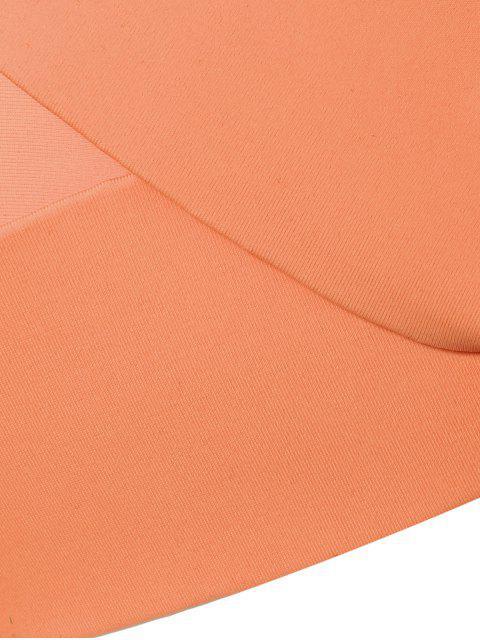 latest Halter Bowknot Padded Skirtini - ORANGE M Mobile