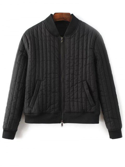 hot Cotton-Padded Jacket - BLACK M Mobile