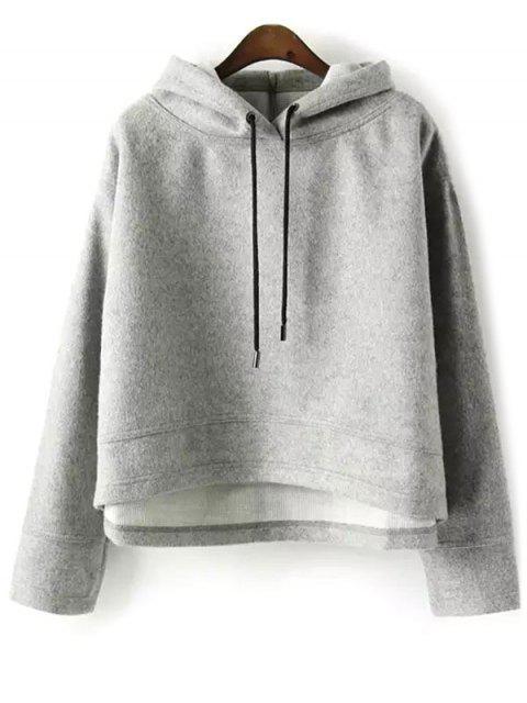 Pull ample à capuche en Laine - gris S Mobile