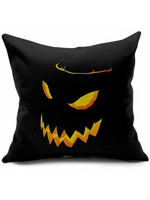 sale Halloween Funny Pumpkin Printed Sofa Cushion Pillow Case - BLACK  Mobile