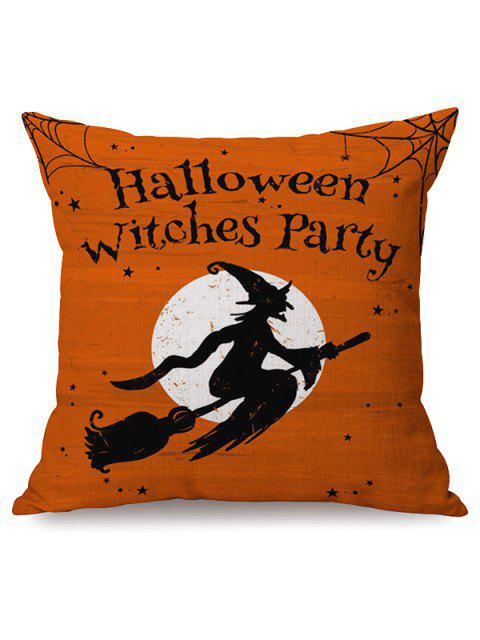 hot Halloween Witches Party Sofa Cushion Printed Pillow Case -   Mobile
