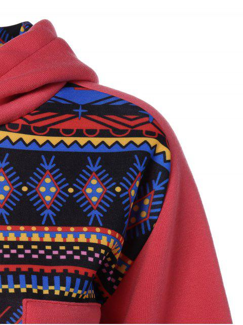 buy Thick Geometric Hoodie - RED XL Mobile