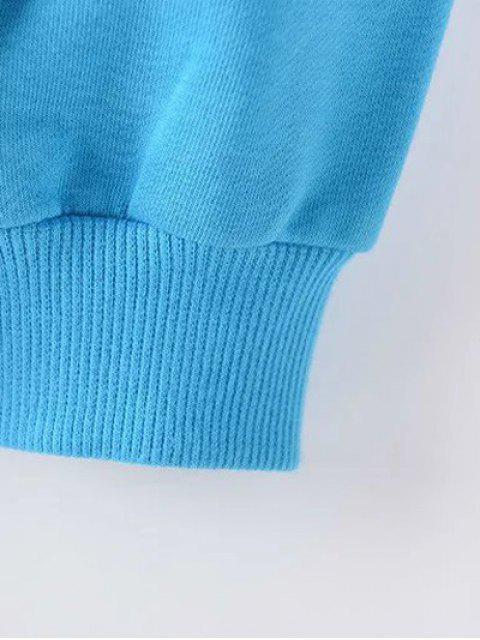 sale Letter Plus Size Sweatshirt - LIGHT BLUE 2XL Mobile