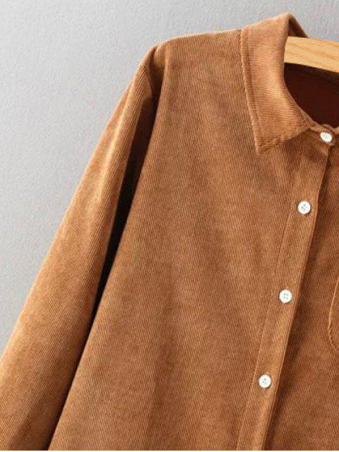 outfit Corduroy High-Low Shirt - CRYSTAL CREAM S Mobile