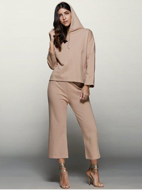 shops Pullover Hoodie With Culotte Pants -   Mobile
