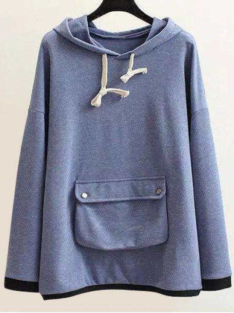 Chaîne Hoodie Pocket - Bleu clair XL Mobile