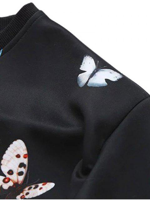 Papillon Lettre Sweatshirt - Noir 2XL Mobile