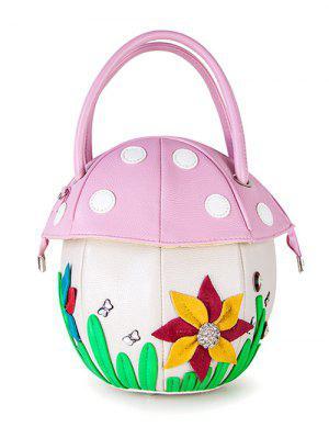 Folwer Polka Dot Mushroom Shaped Handbag